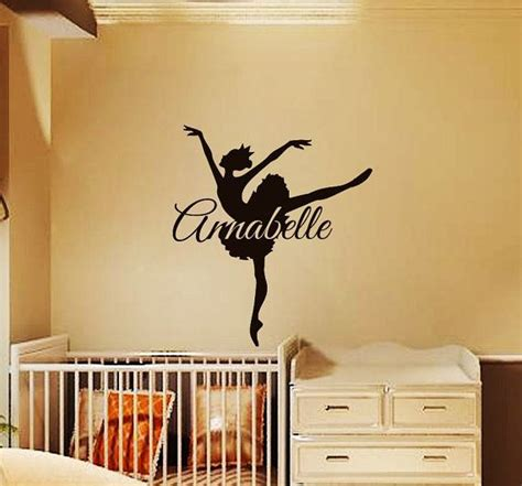 name stickers for bedroom walls ballerina wall decals for girl name decal kids nursery