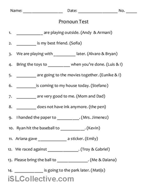 Pronoun Worksheets 6th Grade Free by 16 Best Images Of Reflexive Pronouns 2nd Grade Worksheets