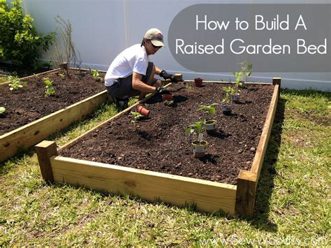 to build a raised garden bed sew woodsy