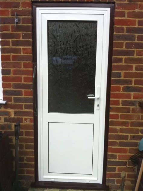 Upvc Exterior Door Upvc Exterior Door Upvc White Front Door M A Home Improvements The Information Is Not
