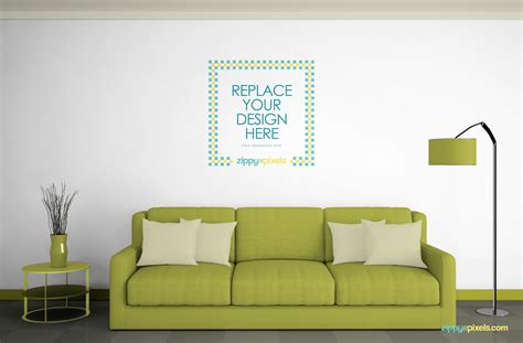 living room images free free wall mockup psd zippypixels