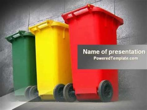 Waste Management Powerpoint Template By Poweredtemplate Com Youtube Waste Management Powerpoint Template