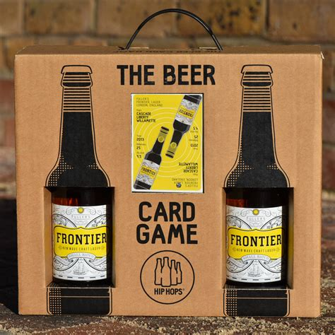 Brewery Gift Cards - beer card game and lager gift set by hip hops notonthehighstreet com