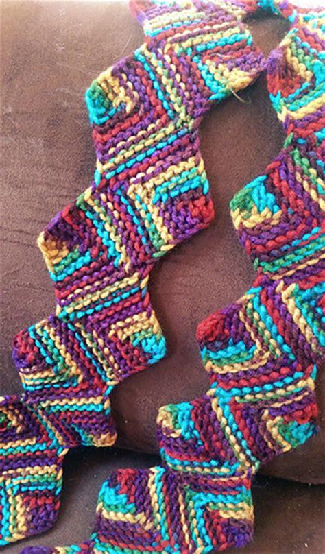 zig zag loop knitting pattern ravelry loom knit zig zag scarf pattern by adrienne weaver
