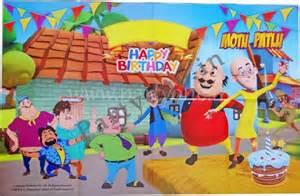 Jaipur Home Decor Motu And Patlu Personalise It Happy Birthday P1pc0007470