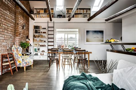 brick wall apartment a gorgeous attic apartment with a brick wall daily