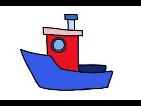 cartoon boat easy to draw how to draw a fishing boat youtube