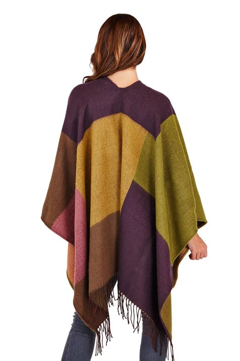 how to drape a shawl womens ladies knitted autumn winter tartan check blanket