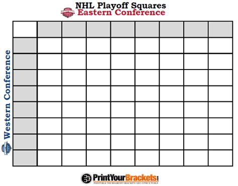 nhl playoff bracket template printable nhl playoff squares print office pool