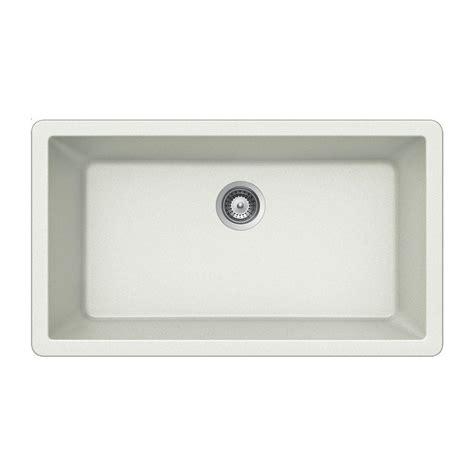 Houzer Kitchen Sink Houzer Quartztone Undermount Composite Granite 33 In Single Basin Kitchen Sink In Cloud V 100u