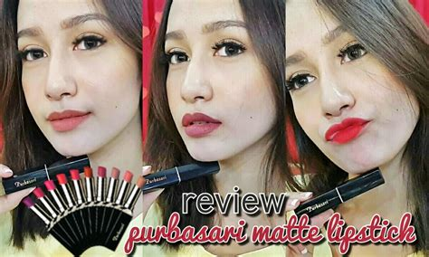 Dijamin Purbasari Lipstick Color Matte Original review swatches purbasari lipstick color matte giveway naomiviow bahasa