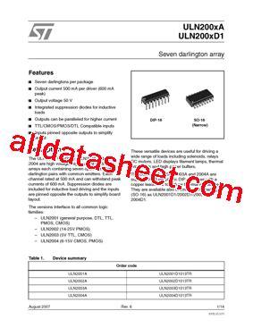 transistor uln2003a datasheet uln2003a datasheet pdf stmicroelectronics