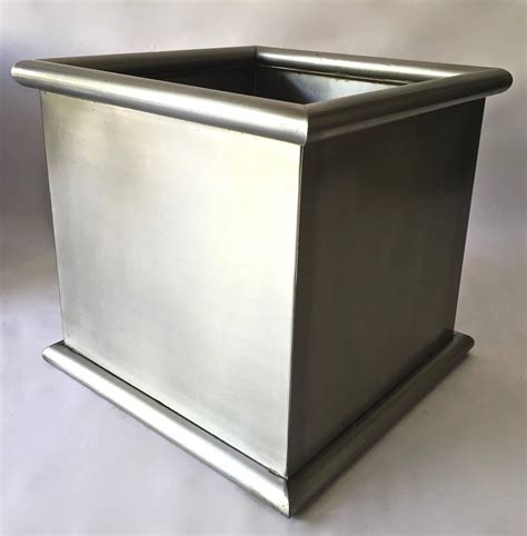 Stainless Steel Planters by Pair Of Large Stainless Steel Planters By Architectural