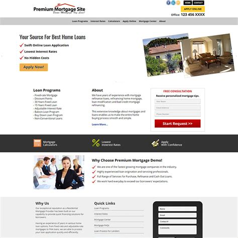 Residential Mortgage Website Templates Loan Officer Website Templates