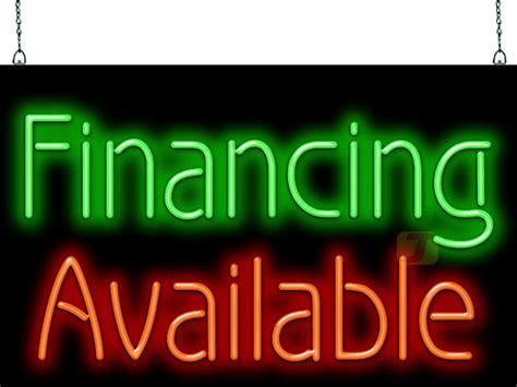 financing  neon sign    jantec neon