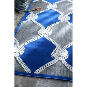 Nautical Outdoor Rugs Nuloom Indoor Outdoor Nautical Ropes Porch Blue Rug 5 X 8 Overstock Shopping Great