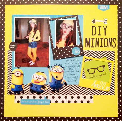 Challenge Use Themed Papers For Non Themed Layouts 3 by Minions Creates