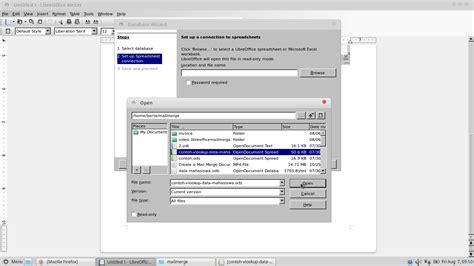 Membuat Mail Merge Libreoffice | laskar komik cara membuat mailmerge pada libreoffice