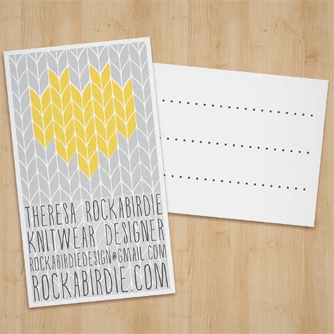Knit Cards Template By Rockabirdie On Deviantart Yarn Shop Business Plan Template