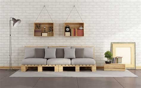 Bathroom Furnishing Ideas by Living Room With Pallet Sofa