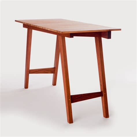 Simple Office Table Contemporary Handcrafted Bamboo Wood Furniture Accessories
