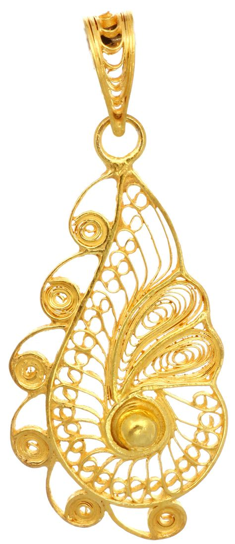 sterling gold plated filigree pendant