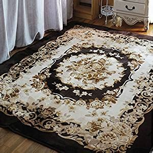 large area rugs for living room amazon com ustide rustic garland area rug 3d floral