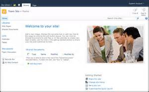 team site template sharepoint 2007 vs 2010 for end users the default