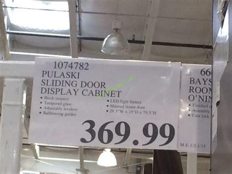 pulaski curio costco sliding door costco pulaski chelsea sliding door