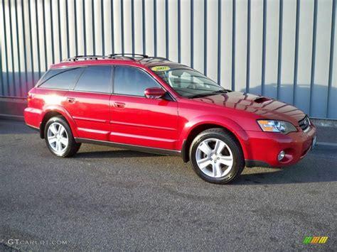 red subaru outback 2005 2005 garnet red pearl subaru outback 2 5xt limited wagon