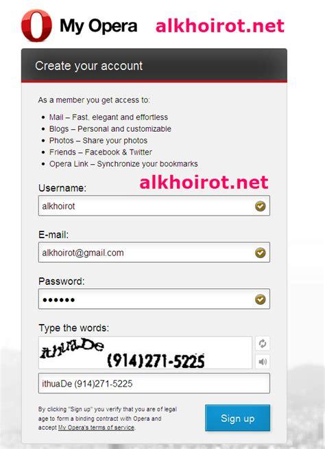 buat akun gmail di opera mini daftar akun kaskus konsultasi syariah