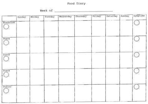 printable food diary booklet 2011