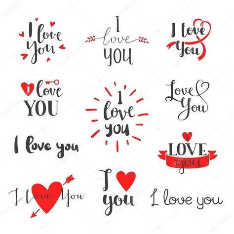imagenes lindas de i love you i love you vector set archivo im 225 genes vectoriales