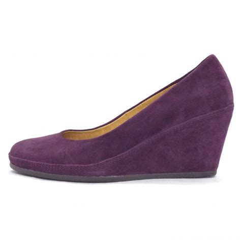 wedge shoes for gabor shoes teller womens wedge shoe in purple suede