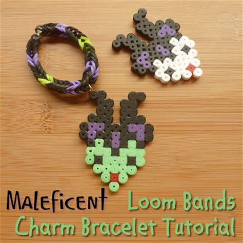 Maleficent Rainbow Loom Bands Bracelet Tutorial