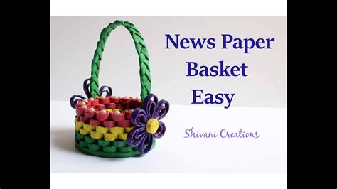 How To Make A Basket Out Of Paper - how to make news paper basket best out of waste easy