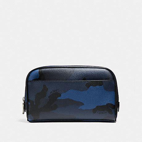 Coach Signature Batik Print Kit by Coach F22545 Travel Kit With Camo Print Blue Camo
