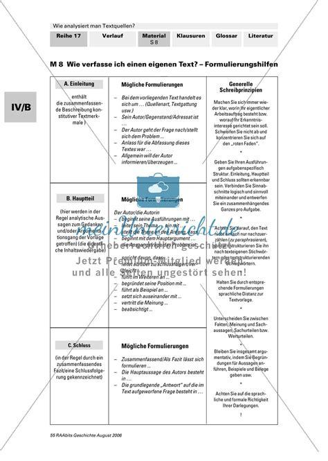 Quellenanalyse Schreiben Muster Analyse Textquellen Systematisierunghilfe Zur Analyse Authentizit 228 Tsgrad Und Aussagewert