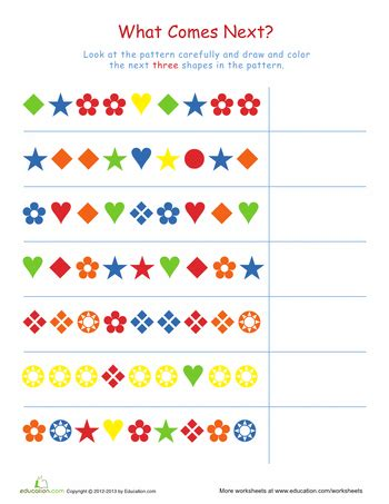 pattern math worksheets 1st grade complete the patterns 1 worksheets math and language
