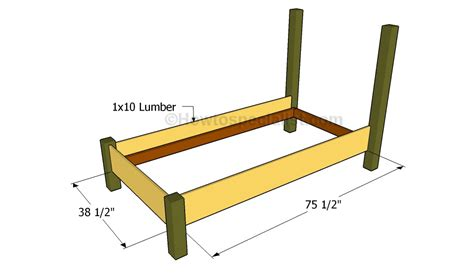 twin bed frame plans twin size bed frame plans howtospecialist how to build