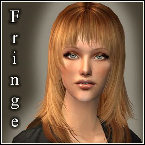 the sims 2 downloads fringe hairstyles mod the sims streaked fringe new fringed haircut