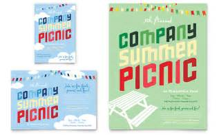 Company summer picnic flyer amp ad template word amp publisher