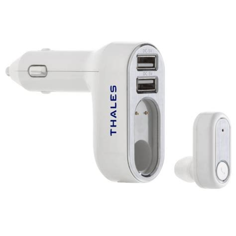 Car Bluetooth Headset With Usb Car Charger Bc16 tomaxusa chargers adapters 2 in 1 usb car charger and bluetooth earbud