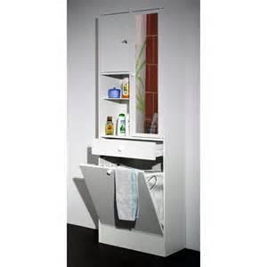 armoire salle de bain bac 224 linge int 233 gr 233 blanc