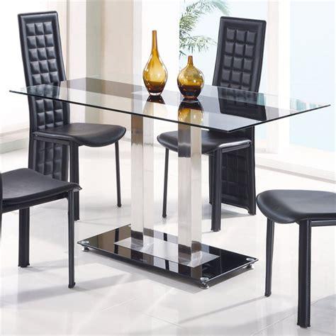 jord glass dining table in black stripe d2108n dt bs