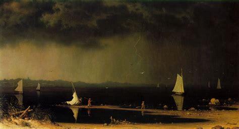 boats j raymond martin johnson heade thunder storm on narragansett bay
