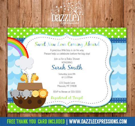 noah s ark baby shower invitation