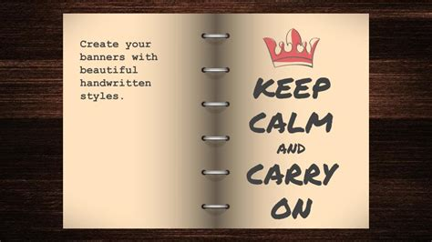 open book keep calm free google slides template free