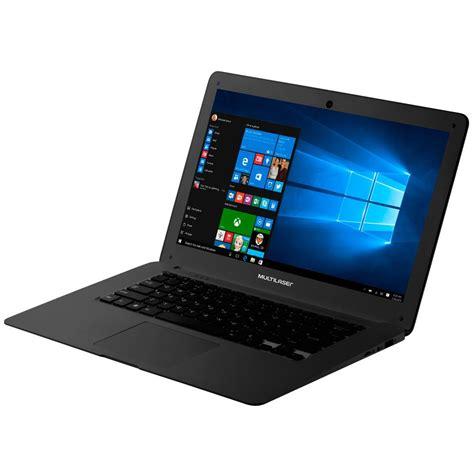 notebook  multilaser processador intel atom preto