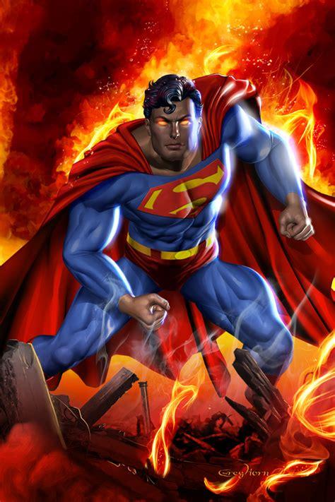 superman painting comics neon